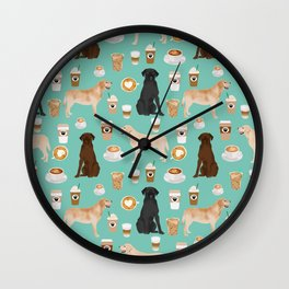 Labrador retriever gifts for lab owners golden retriever chocolate lab black lab dog breeds Wall Clock