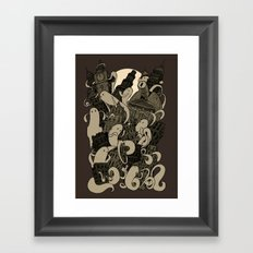 Ghosts & The City Framed Art Print