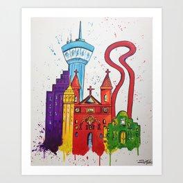 Alamo City Art Print