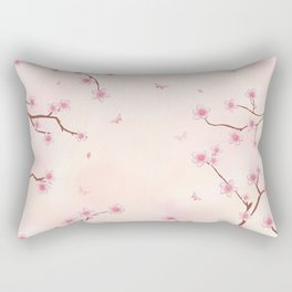 Cherry Blossom Dream Rectangular Pillow