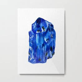 Tanzanite Birthstone Watercolor Illustration Metal Print