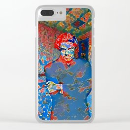 Portrait of A Young Immigrant Clear iPhone Case