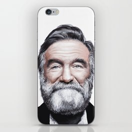 A tribute to Robin Williams iPhone Skin