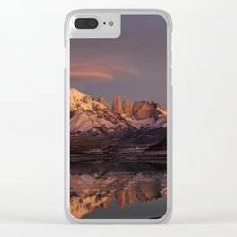 Sunrise at the Sarmiento Lake | Torres del Paine National Park, Patagonia Clear iPhone Case