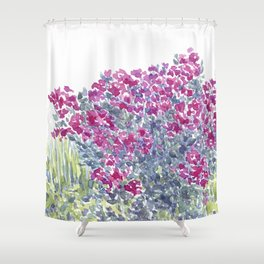 Garden Flowers Watercolor  Shower Curtain