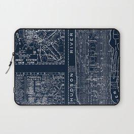 Vintage New York City Street Map Laptop Sleeve