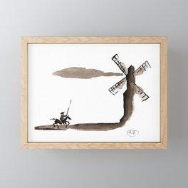 Don Quixote de la Mancha Framed Mini Art Print