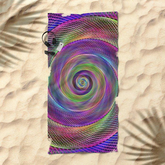 Spiral magic Beach Towel