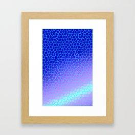 blue tiles Framed Art Print