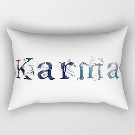 Karma - White Rectangular Pillow