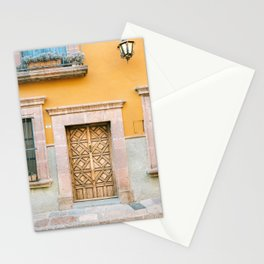 Orange and Turquoise | The San Miguel de Allende Mexico door collection | Travel photography print Stationery Cards