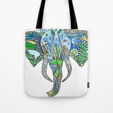 Tatoo Elephant Tote Bag