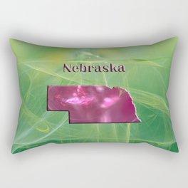 Nebraska Map Rectangular Pillow