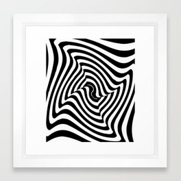 Geometric Black & White Framed Art Print