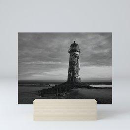 Talacre Lighthouse Black And White Mini Art Print