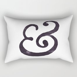Black Ampersand  Rectangular Pillow