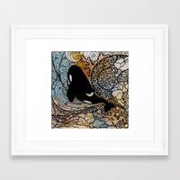killer whale Framed Art Prints featuring Killer Whale by Nemki