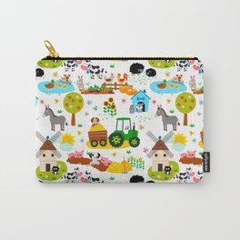 Cute Barnyard Farm Animals Pattern Carry-All Pouch