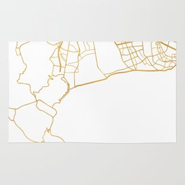CAPE TOWN SOUTH AFRICA CITY STREET MAP ART Rug