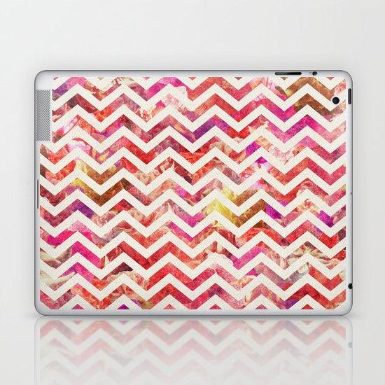 FLORAL CHEVRON Laptop & iPad Skin