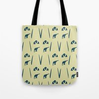 army Tote Bags featuring Penguin Army by Sarah Jane Jackson