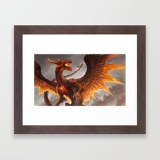 Red Crystal Dragon Framed Art Print