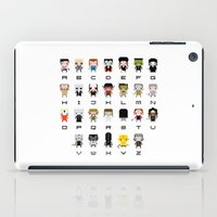 movies iPad Cases featuring Horror Movies Alphabet by PixelPower