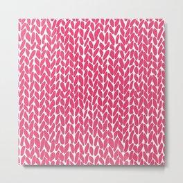 Hand Knit Raspberry Metal Print