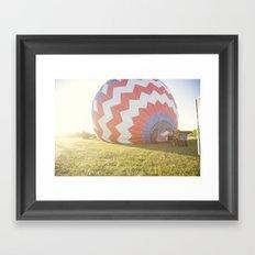 morning light::denver Framed Art Print