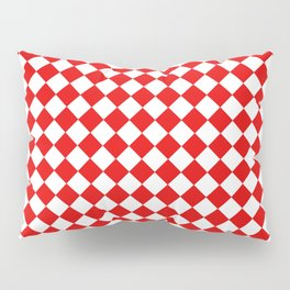 VERY SMALL RED AND WHITE HARLEQUIN DIAMOND PATTERN Pillow Sham