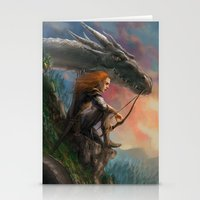 guardians Stationery Cards featuring Guardians by Rita Fei