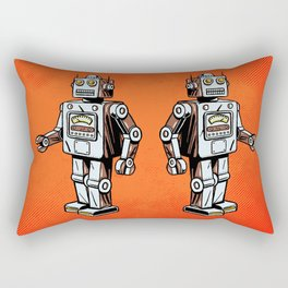 Retro Robot Toy Rectangular Pillow
