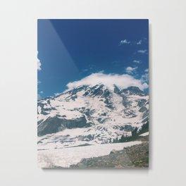 Mount Rainier Summit from Skyline Trail Metal Print