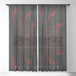 Protected by Lucifer Dark Sheer Curtain