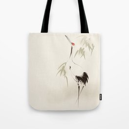 Oriental Red-Crowned Crane 001 Tote Bag