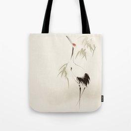 Oriental Red-Crowned Crane 001 Tote Bag