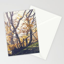 Dreamy yellow forest Stationery Cards