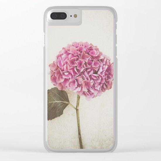 Beautiful Pink Hydrangea Clear iPhone Case