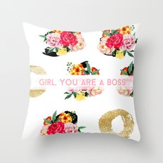 Girl, You Are A Boss Throw Pillow