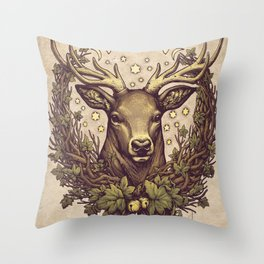 Cernunnos Stag Throw Pillow