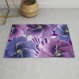Purple Floral Inspiration Rug