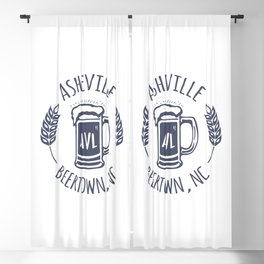 Asheville Beer T-Shirt - White Blackout Curtain
