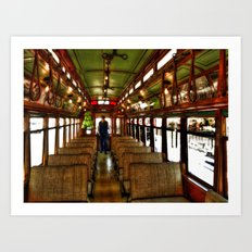 Trolley Train Art Print
