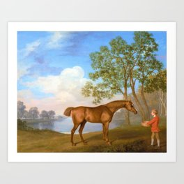 Pumpkin With A Stable-lad - George Stubbs Art Print