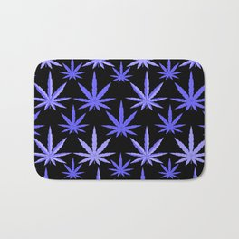 Marijuana Violet Blue Weed Bath Mat
