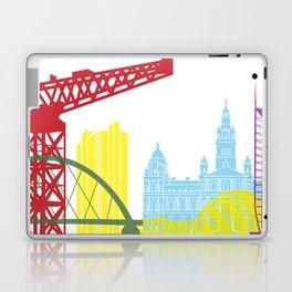 Glasgow skyline pop Laptop & iPad Skin