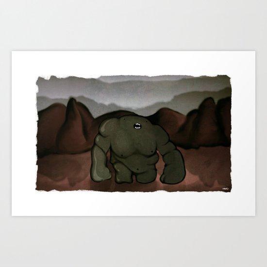 Riften Troll Art Print