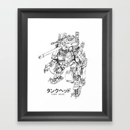 TankHead (Lineart)  Framed Art Print