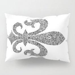 fleur de lis doodle abstract shapes Pillow Sham