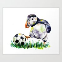 football Art Prints featuring Football by Anna Shell